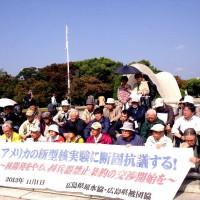 131101_核実験抗議の座り込み(広島)